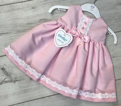 Baby Pink Dress with Swiss Lace